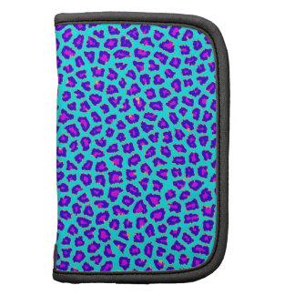 Cheetah Print Purple on Blue Planner