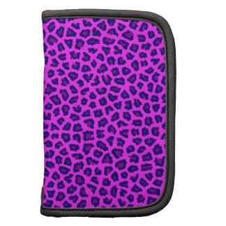 Cheetah Print Purple on Pink Folio Planners