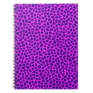 Cheetah Print Purple on Pink Journals