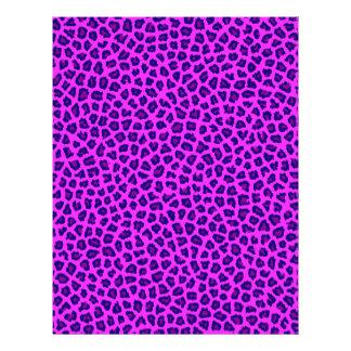 Cheetah Print Purple on Pink Letterhead Template