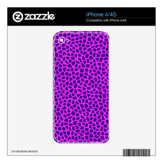 Cheetah Print Purple on Pink Skin For The iPhone 4