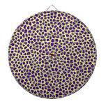 cheetah print purple on yellow dartboard