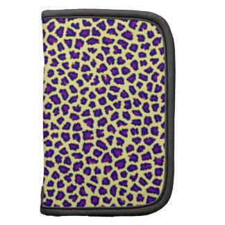 cheetah print purple on yellow folio planner