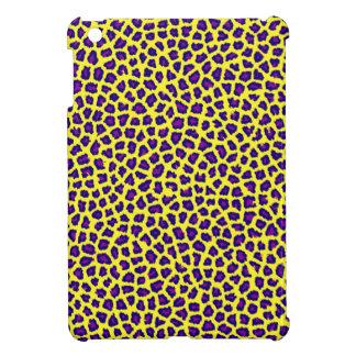 cheetah print purple on yellow iPad mini covers