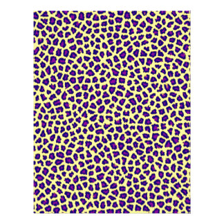 cheetah print purple on yellow letterhead design