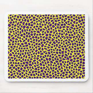 cheetah print purple on yellow mouse pad