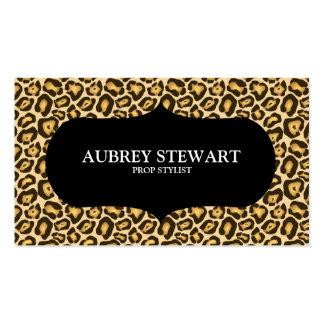 Cheetah Print Safari Business Card