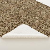 Cheetah Print Sherpa Blanket