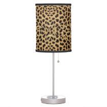 Cheetah Print Table Lamp