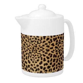 Cheetah Print Teapot