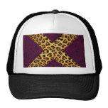 Cheetah Print X Mesh Hats