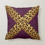 Cheetah Print X Pillows
