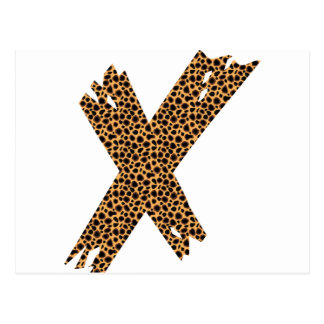 Cheetah Print X Postcard