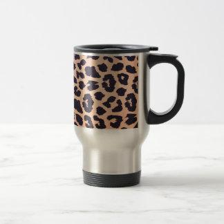 Cheetah prints 15 oz stainless steel travel mug