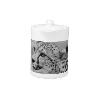Cheetah profile teapot