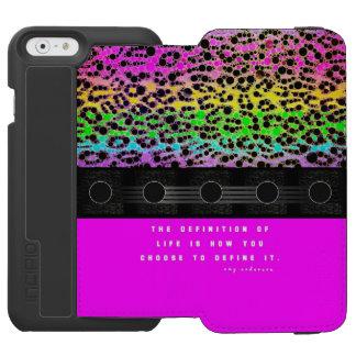 Cheetah Rainbow Life Incipio Watson™ iPhone 6 Wallet Case