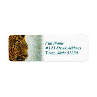 Cheetah Return Address Label