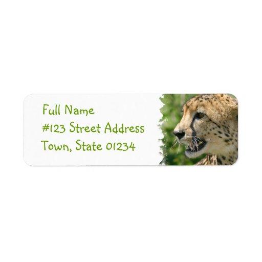Cheetah Return Address Mailing Label Return Address Label