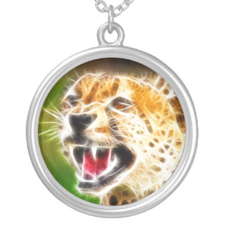 Cheetah Round Pendant Necklace