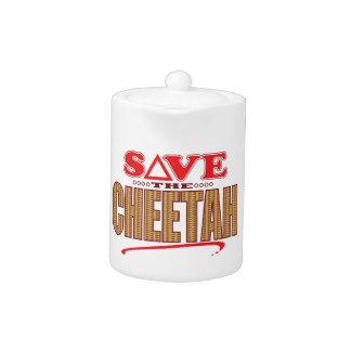 Cheetah Save Teapot