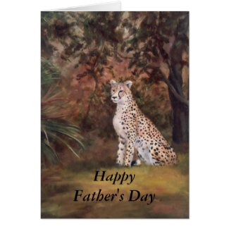 Cheetah Sitting Proud Father's Day Card