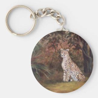 Cheetah Sitting Proud Keychain