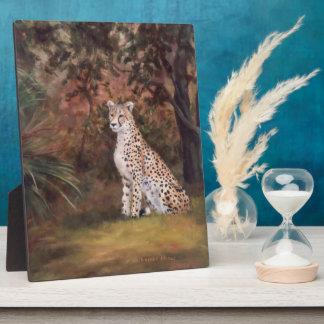 Cheetah Sitting Proud Plaque