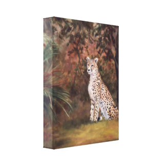 Cheetah Sitting Proud Wrapped Canvas Print