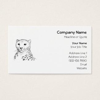Cheetah Sketch. Business Card