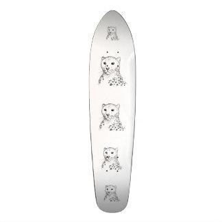 Cheetah Sketch. Skateboard Deck