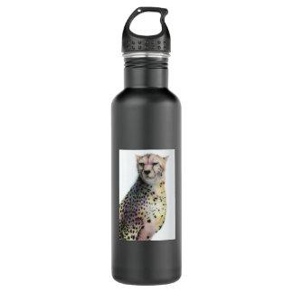 Cheetah Sketch Stainless Steel Water Bottle