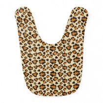 Cheetah skin pattern baby bib