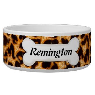 Cheetah Skin Pattern Custom Dog Bowl