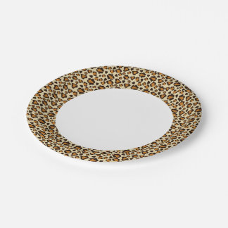 Cheetah skin pattern paper plate