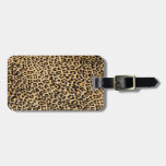 Cheetah skin travel bag tag