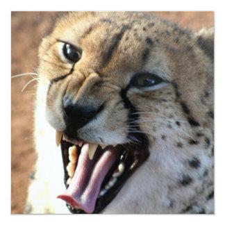 Cheetah Snarl Invitations