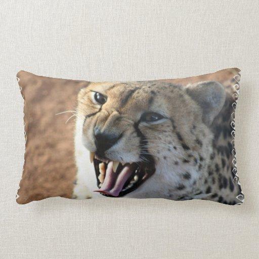 Cheetah Snarl Pillow