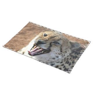 Cheetah Snarl  Placemat Cloth Placemat