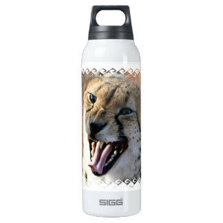 Cheetah Snarl  16 Oz Insulated SIGG Thermos Water Bottle