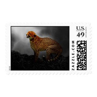 Cheetah spirit guard postage stamp