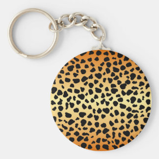 Cheetah spots - Keycahin Basic Round Button Keychain