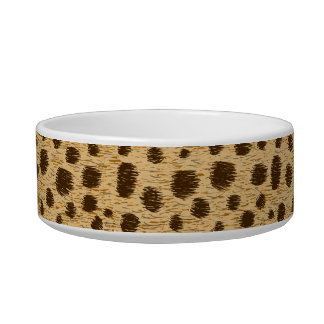 Cheetah Spots Pattern Animal Print Custom Pet Bowl