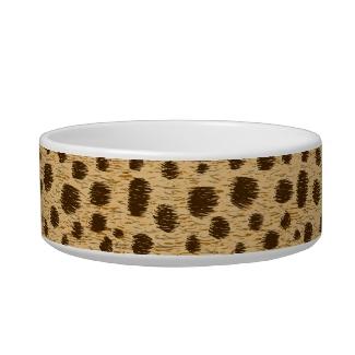 Cheetah Spots Pattern Animal Print Custom Pet Bowl