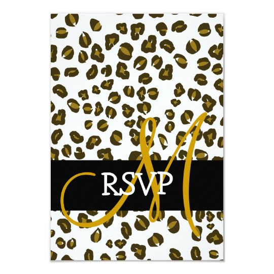 Cheetah Spots Pattern Wedding RSVP Cards