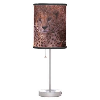 Cheetah Stare Desk Lamp