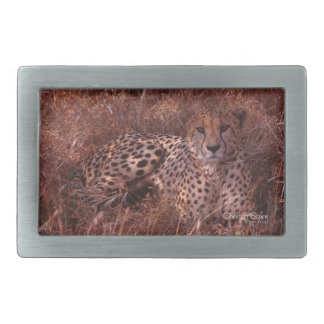 Cheetah Stare Rectangular Belt Buckle