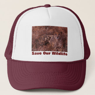 Cheetah Stare Save Our Wildlife Hat