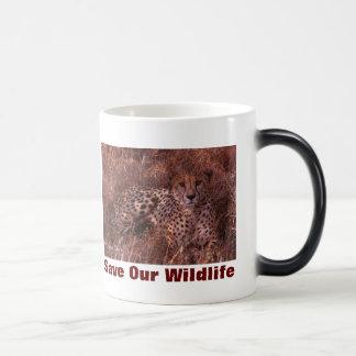 Cheetah Stare Save Our Wildlife 11 Oz Magic Heat Color-Changing Coffee Mug