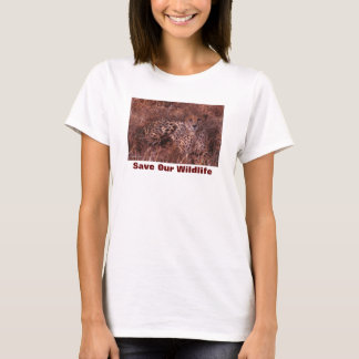 Cheetah Stare Save Our Wildlife T-Shirt
