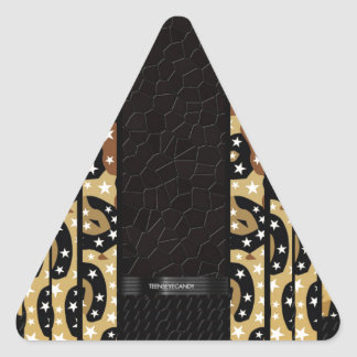 Cheetah Stars Unique Pattern Triangle Sticker
